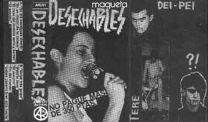 Desechables - maqueta - Anarchi records - portada single