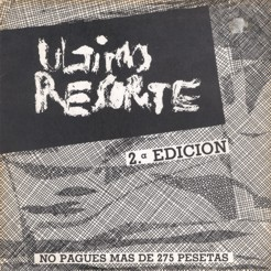 Ultimo resorte - EP - portada single 2 edicion Flor y Nata records