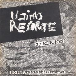 Ultimo resorte - EP - portada single 2 edicion Flor y Nata records