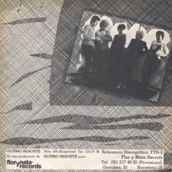 Ultimo resorte - EP - contraportada single 2 edicion Flor y Nata records