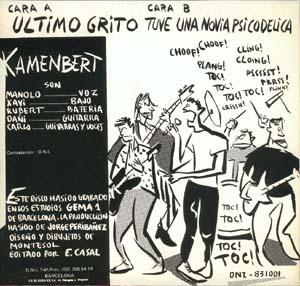 Kamenbert - Ultimo grito - contraportada single